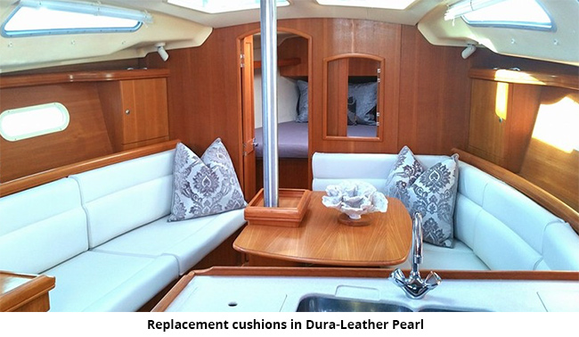 The Key To This Efficiency Is Offering Fabrics Which Manufacturer Stocks For Use In New Hunter Sailboats Note Upholstery Change Frequently
