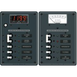 120V AC Main + 3 Position Circuit Breaker Panel - with Analog Voltmeter image