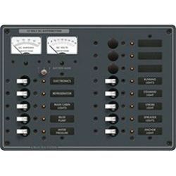 DC 13 Position Circuit Breaker Panel - with Analog Amp & Voltmeters image