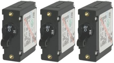 AC/DC A-Series Single Pole Circuit Breakers - Black Toggle image