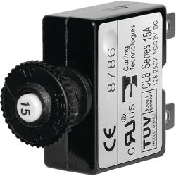 Push Button Reset Quick Connect Terminal Thermal Circuit Breaker image