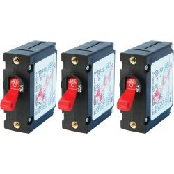 AC/DC A-Series Single Pole Circuit Breakers - Red Toggle image