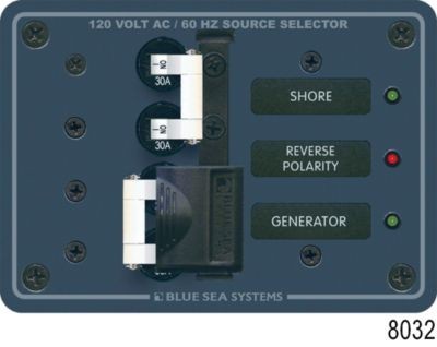 2-Source Selector/120 Volt AC Main Circuit Breaker Panel image