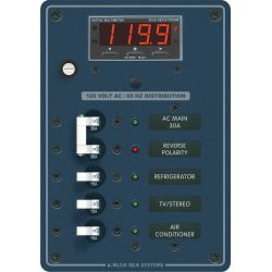 120V AC Main + 3 Position Circuit Breaker Panel - with Digital Multimeter image