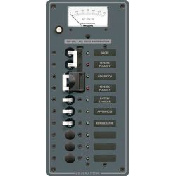 2 Sources Selector/AC Main + 6 Positions Circuit Breaker Panel image