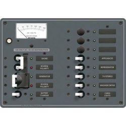 2 Sources Selector/AC Main + 9 Positions Circuit Breaker Panel image