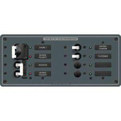 2 Source Selector/AC Main + 4 Positions Circuit Breaker Panel image