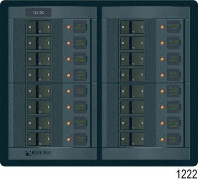 360 Panel System DC Breakers No Meters - 16 Positions image