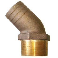 45 Deg Bronze Pipe to Hose Adapter image