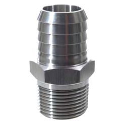 Stainless Steel Pipe to Hose Adapter - Straight image