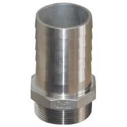Straight Pipe to Hose Adapters - Stainless Steel image