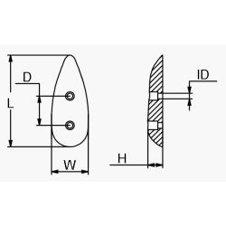 Drivers Dream Slotted Plate Anode - Aluminum image