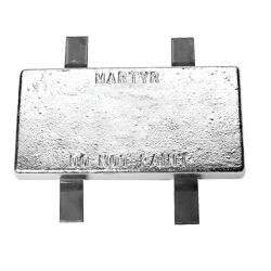 Weld-On Style Commercial Hull Anodes - Zinc w/Steel Straps image