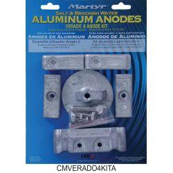 4 Cylinder Mercury Verado 4 Anode Kit - Aluminum  image