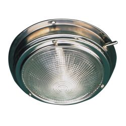 6-3/4 in. Stainless Steel Dome Light - 5 in. Lens image