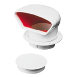Low Profile PVC Cowl Vent - with Snap-In Deck Plate image