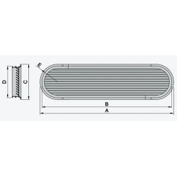 Type ASV Louvered Engine Room Air Vents - Aluminum Frame and Grill image