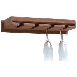 Teak Wineglass Rack with Shelf image