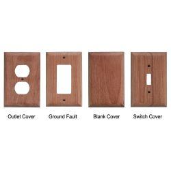 Teak Blank Outlet Cover image
