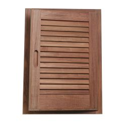 Louvered Teak Door and Frame image
