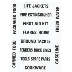 Nash No. 205 Electrical & Safety Labels - Stowage Locker Labels image