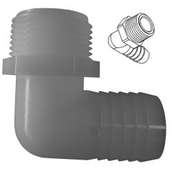 90 Degree Elbow Hose to Pipe Adapter image