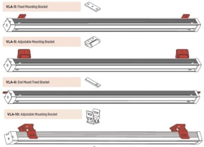 V-Line Linear LED Lighting Mounting Brackets image