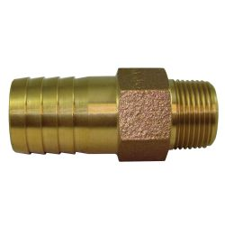Cast Red Brass Pipe to Hose Adapters - Straight image