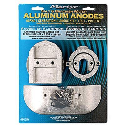 Mercruiser Alpha 1 Gen II Anode Kit - Aluminum image