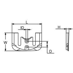 821629C Merc I/O Gen II Alpha Transom Anode - Zinc image