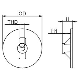 Force/Mariner Outboard Circular Plate Anode - Zinc image