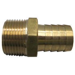 Male Pipe to Hose Adapter - Machined Brass image