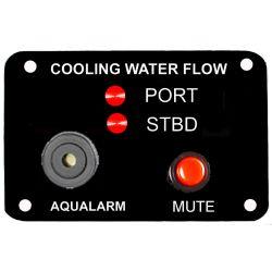 Raw Water Flow Warning Panel w/ Mute - Twin Engine image