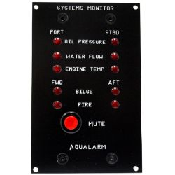 Systems Monitor w/ 5 Dectectors & Bell - 1 Engine image