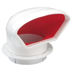 Low Profile PVC Cowl Vent with Deck Plate Mount image