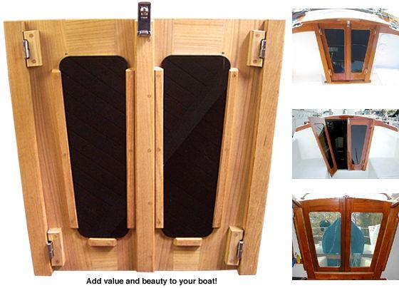 Companionway Doors, Teak, custom made for any boat image