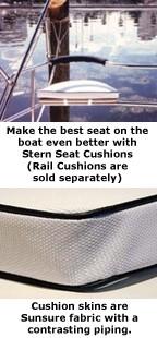 Stern Seat Cushions - Sunsure Fabric image