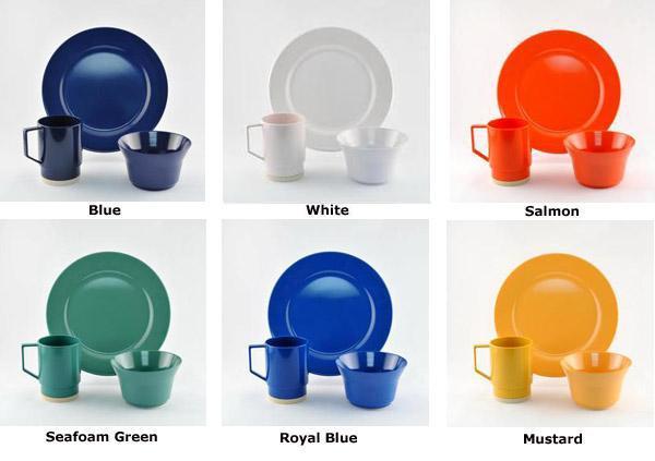 Dishware - Non-skid Melamine, Solid Color Open Stock image