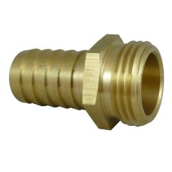 Garden Hose Male End Only - with Hose Barb image