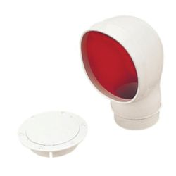 Oval PVC Cowl Vent - with Deck Plate Mount image