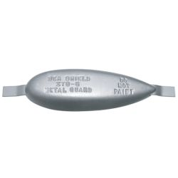 Weld-On Teardrop Anode - Zinc, 3 in. x 9 in. x 1-1/2 in. Thick image