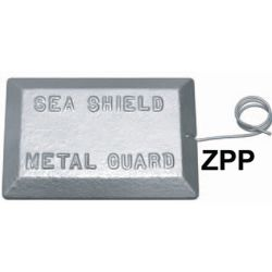 ZPP Plate Anode with Copper Pigtail - Zinc image