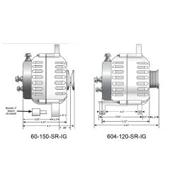 6 Series Alternators, Dual Mounting Foot image