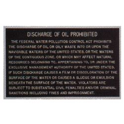 Oil Discharge Plaque image