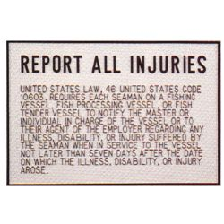 Injury Report Plaque image