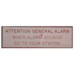 General Alarm Plaque image