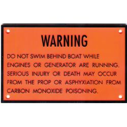 Carbon Monoxide Warning Plaque image