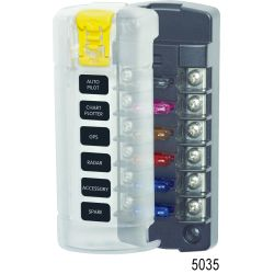 ST Blade Fuse Block - 6 Independent Circuits image