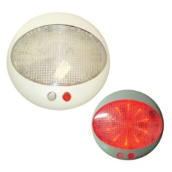 5 in. Prague LED Red/White Dome Light with Dimmer image